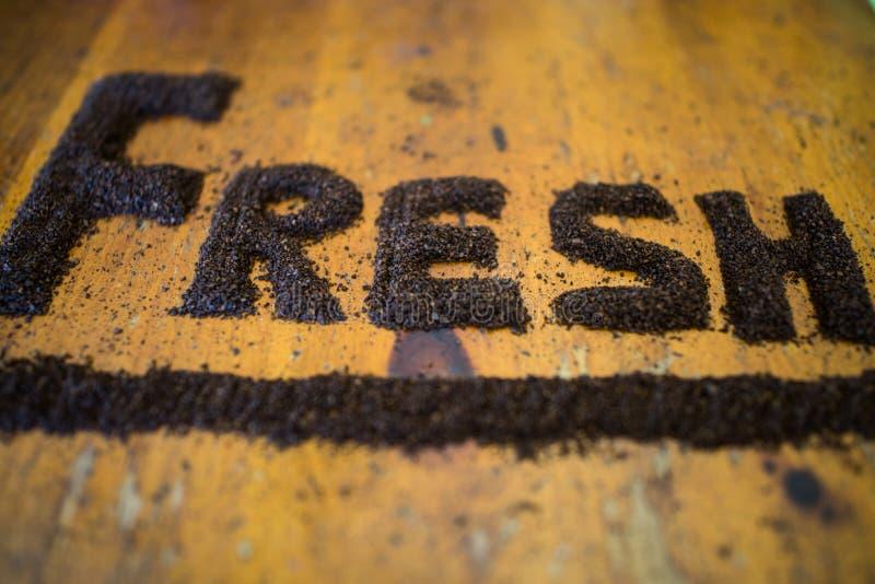 Café à terra fresco foto de stock