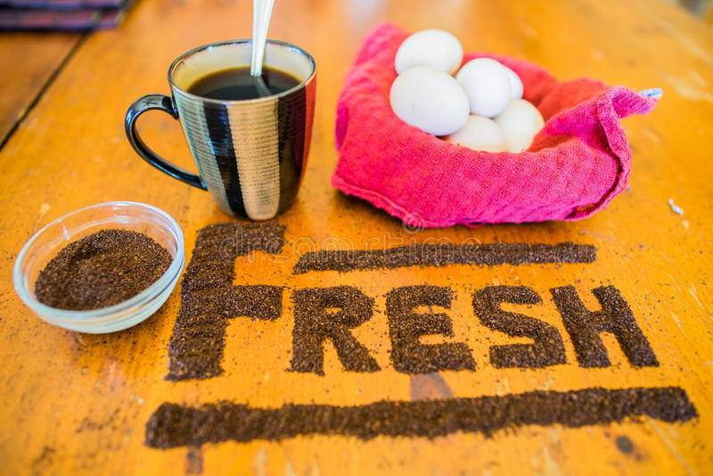 Café à terra fresco fotografia de stock