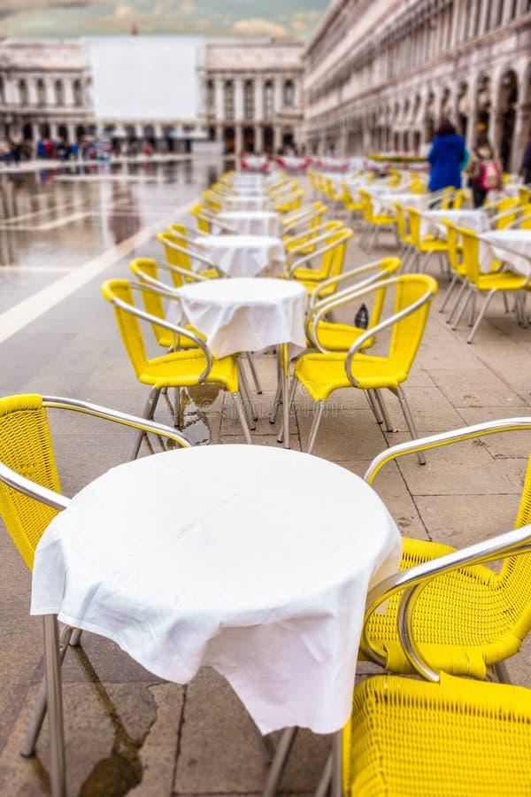 Café à Venise photographie stock