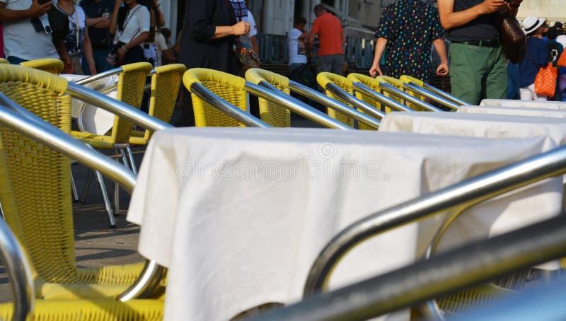 Café à Venise, Italie image libre de droits