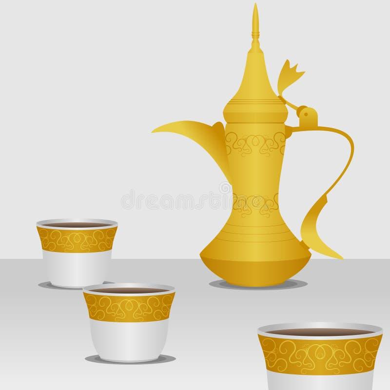 Café árabe ilustração royalty free