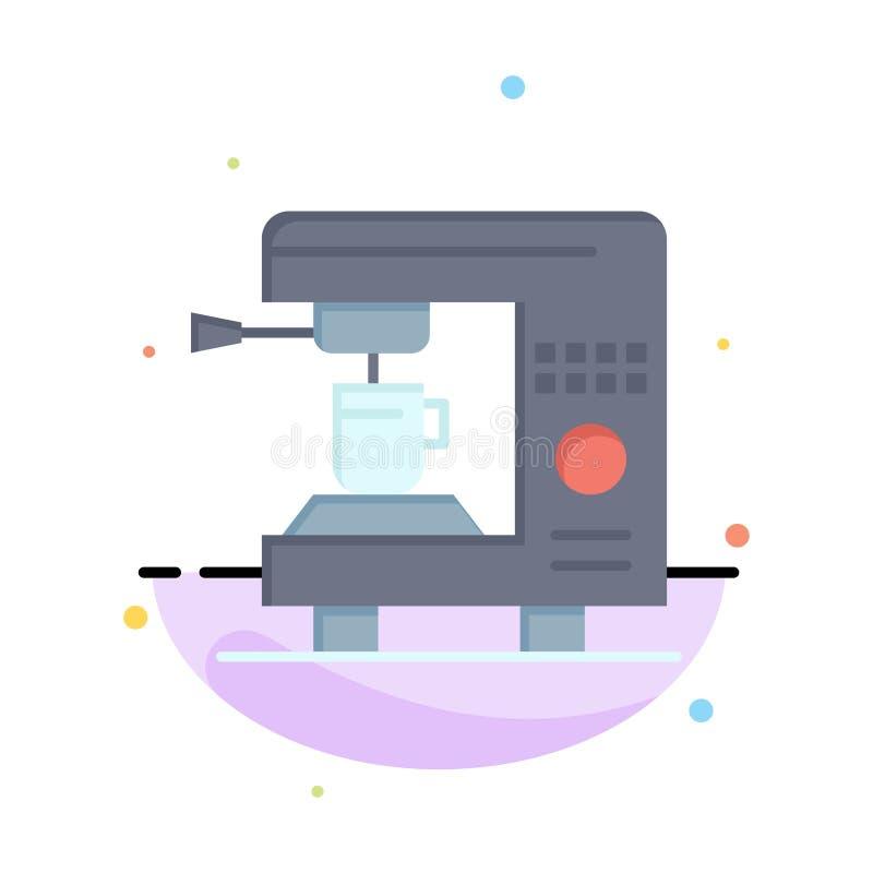 Café, électrique, à la maison, calibre plat d'icône de couleur d'abrégé sur machine illustration stock