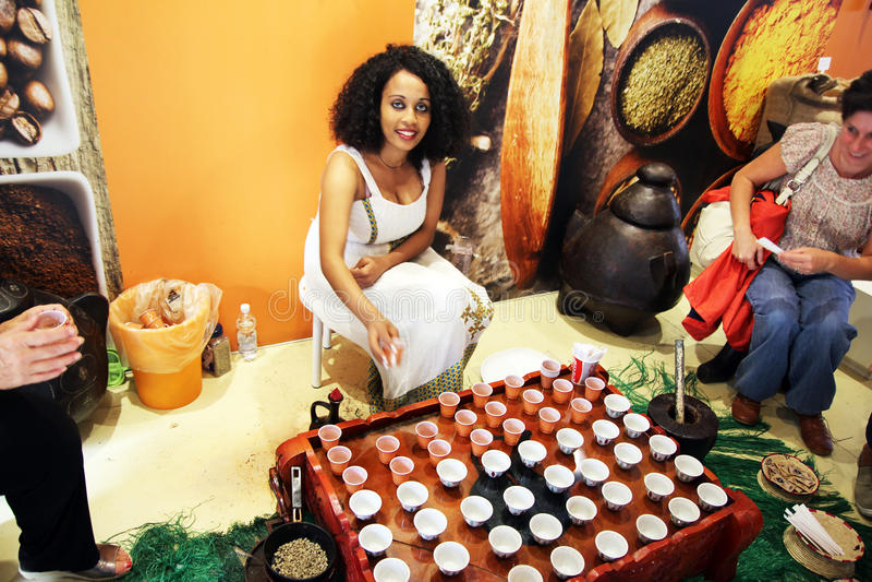 Café éthiopien images stock