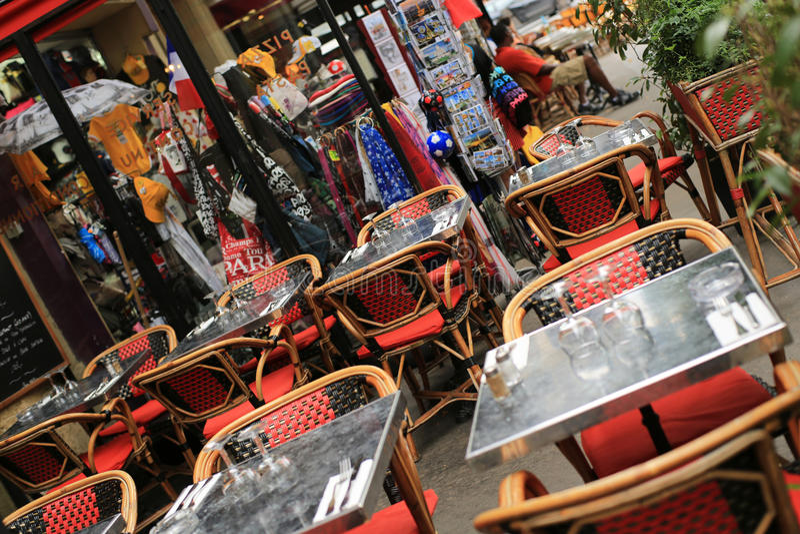 Café στο Παρίσι στοκ εικόνες