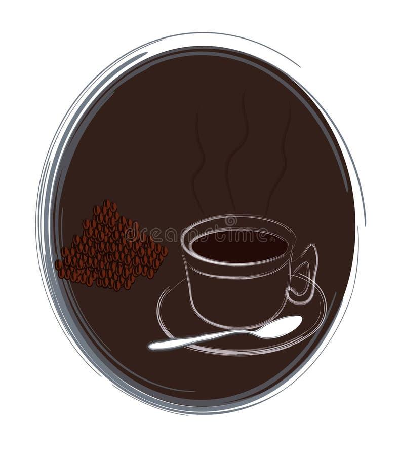 Café ilustración del vector