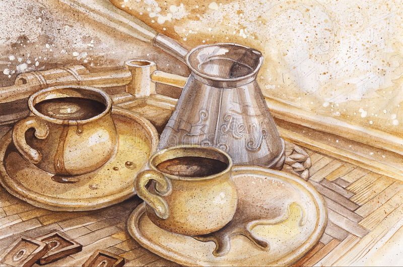 Café illustration stock