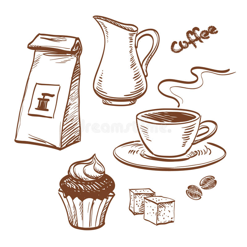 Café ilustração royalty free
