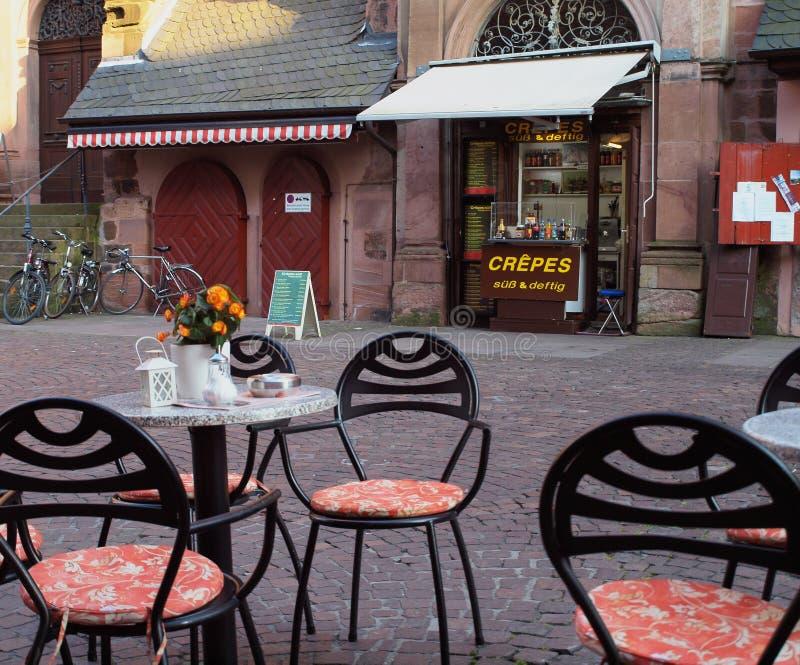 Café al aire libre en Alemania imagen de archivo