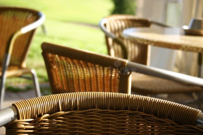 Café ao ar livre fotografia de stock