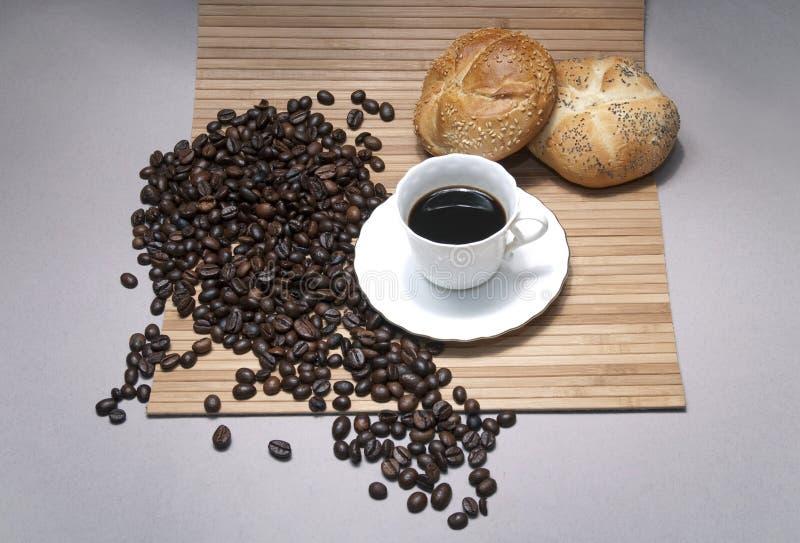 Café avec une boulangerie photographie stock libre de droits