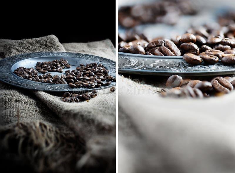 Café Bean Montage imagenes de archivo