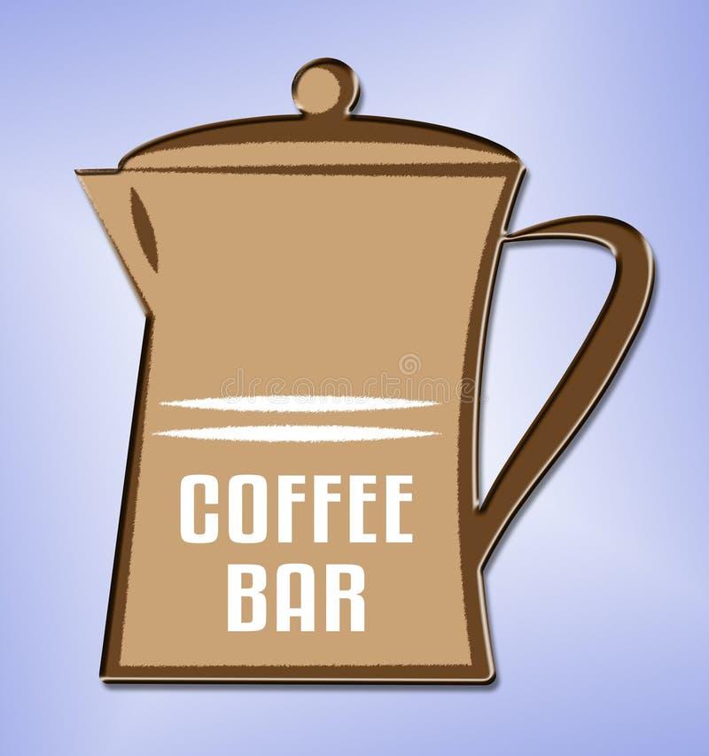 Café bedeutet Cafeteria-Café und Koffein vektor abbildung