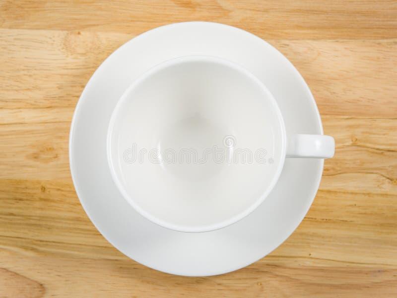 Café blanc simple de tasse images libres de droits