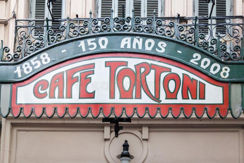 Café Buenos Aires Argentina de Tortoni imagens de stock