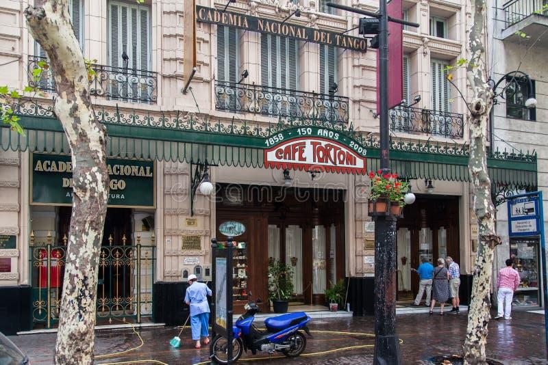 Café Buenos Aires Argentine de Tortoni photo libre de droits