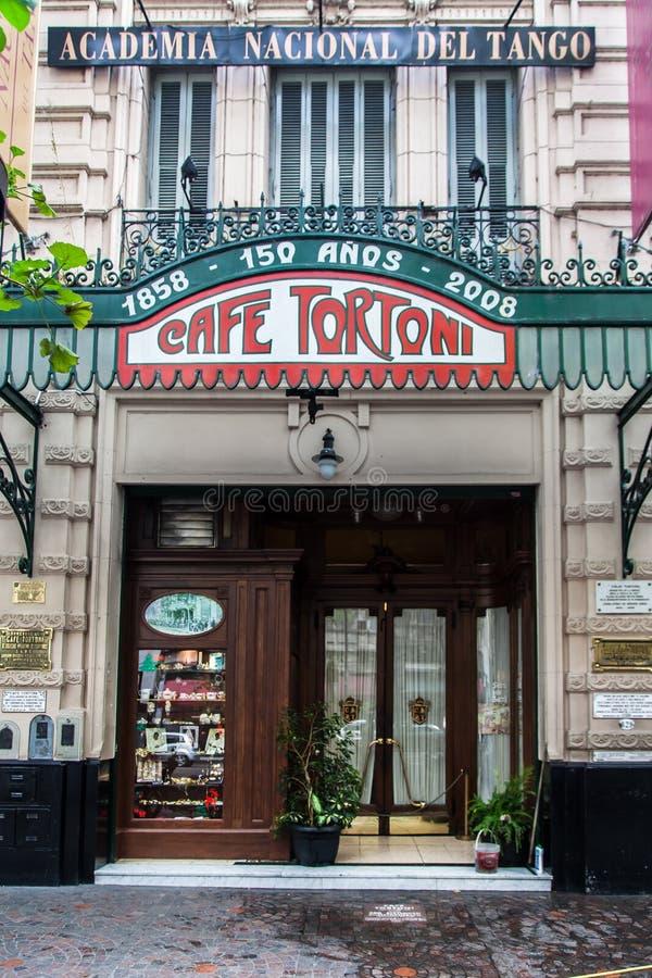Café Buenos Aires la Argentina de Tortoni fotos de archivo libres de regalías