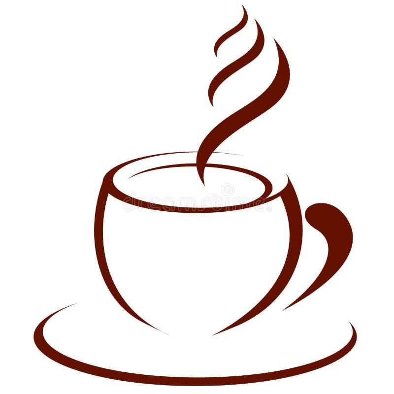 Café caliente stock de ilustración