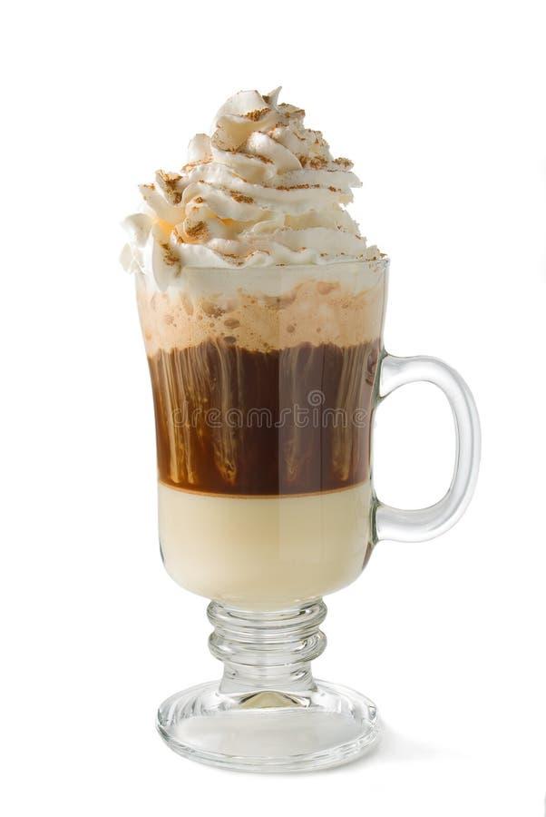 Café caliente del Cappuccino imagen de archivo