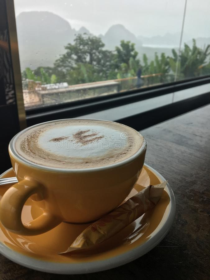Café caliente en Samed Nang Chee fotografía de archivo libre de regalías