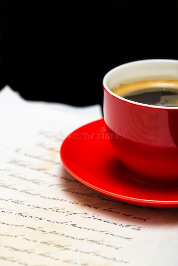 Café calme avec le papier photos libres de droits