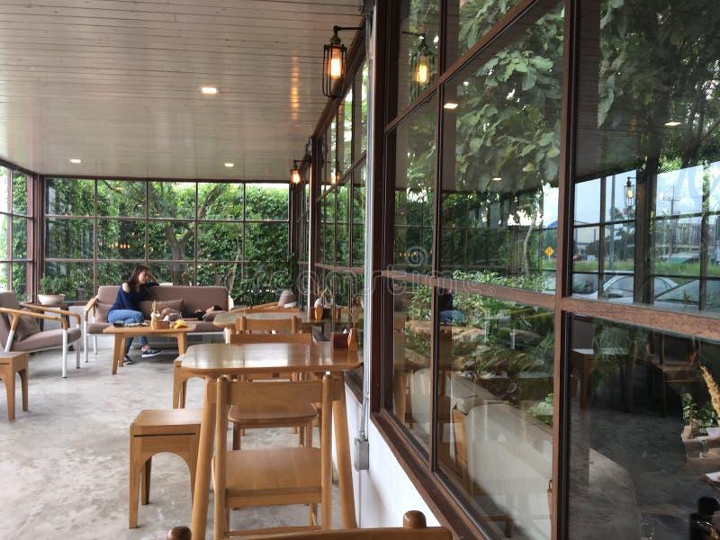 Café calme de café photographie stock