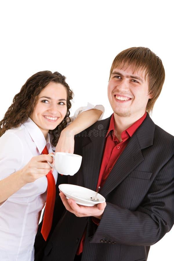 Café-cassez à la bonne compagnie images libres de droits