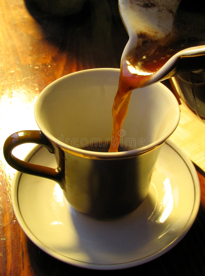 Café-Cezve imagens de stock
