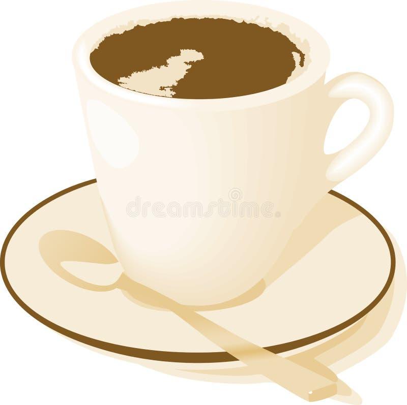 Café, chá ou chocolate quente ilustração royalty free