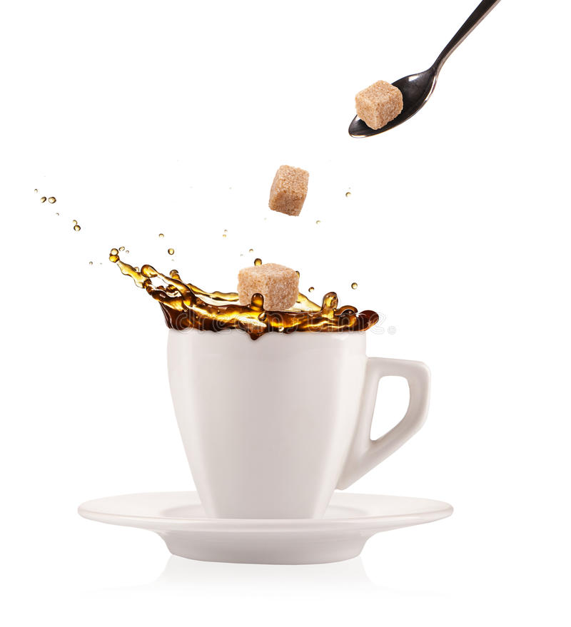 Café com açúcar imagens de stock royalty free