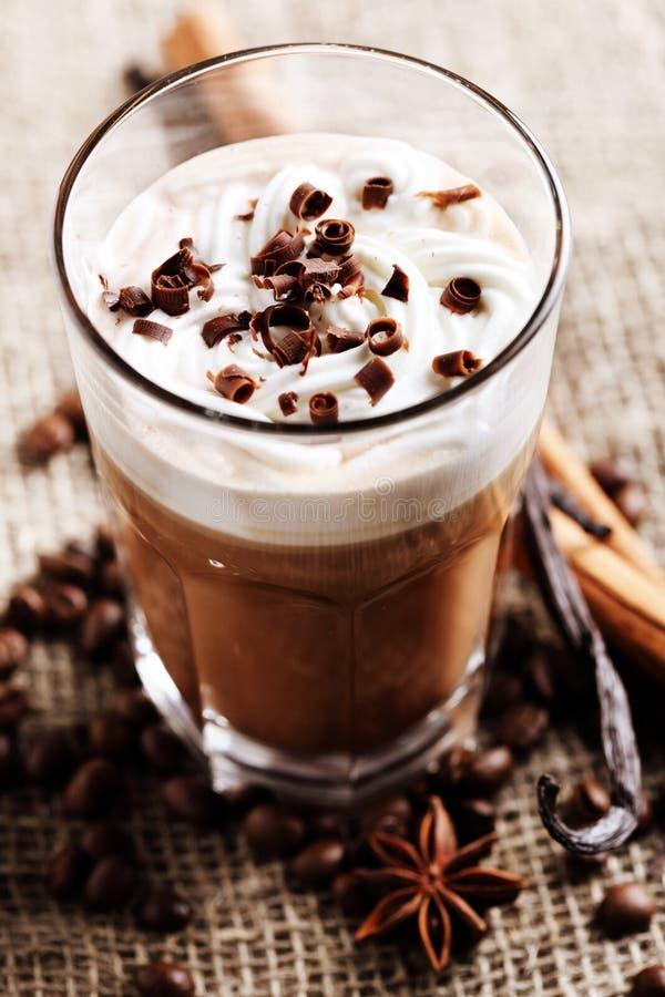 Café com chocolate fotografia de stock