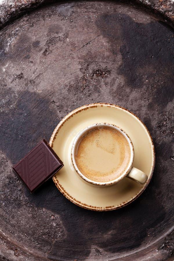 Café com chocolate imagem de stock royalty free