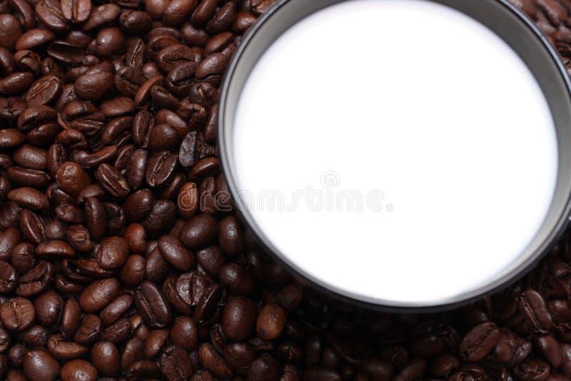Café com leite foto de stock