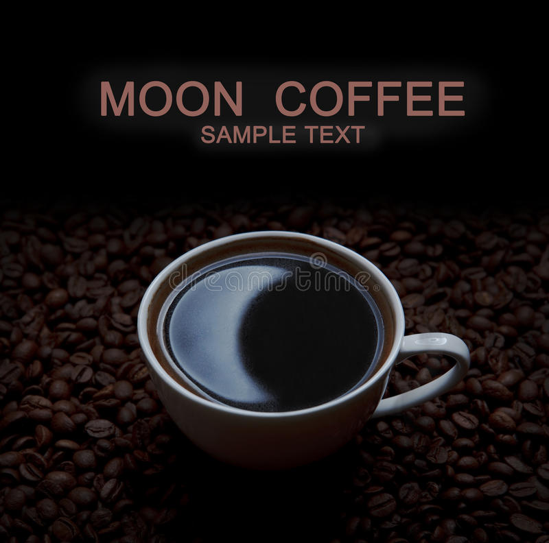 Café com reflexão da lua fotos de stock royalty free