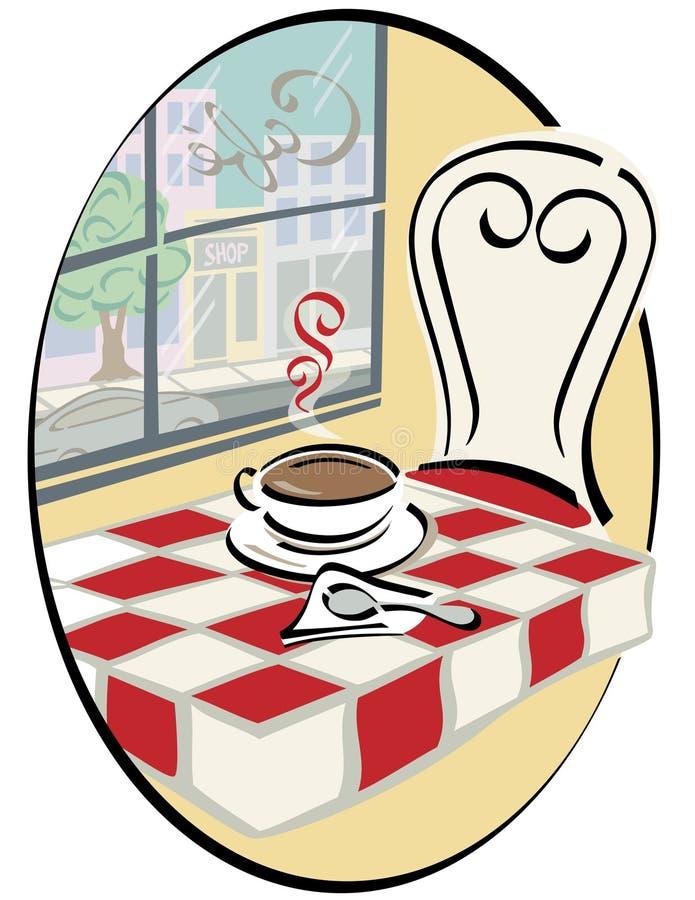 Café com uma vista ilustração do vetor