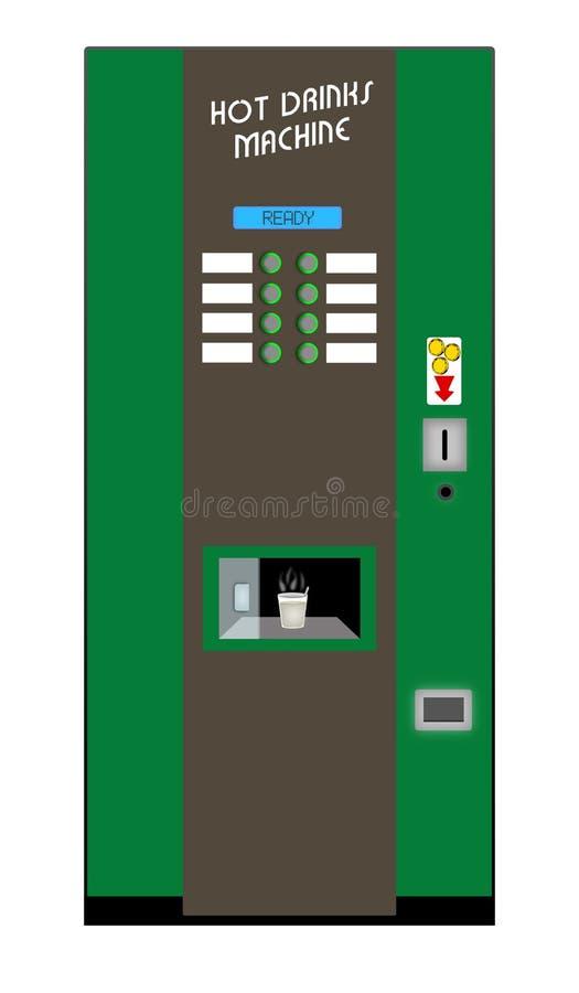Café comercial Machine2 ilustración del vector
