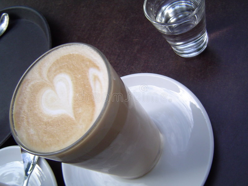 Café con amor imagenes de archivo