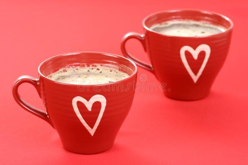 Download Café con amor imagen de archivo. Imagen de waking, corazón - 7284619