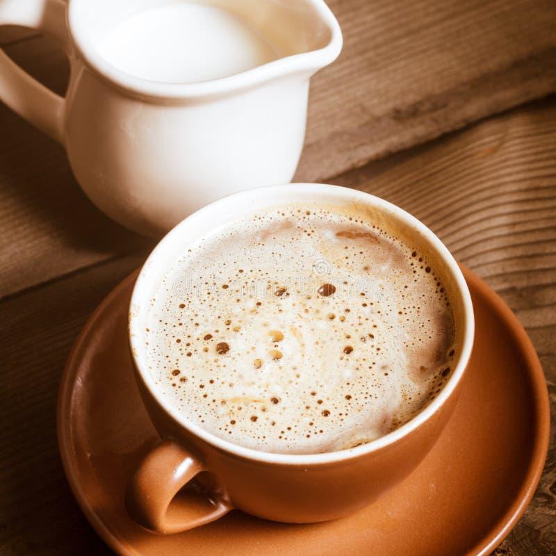 Café con leche imagen de archivo
