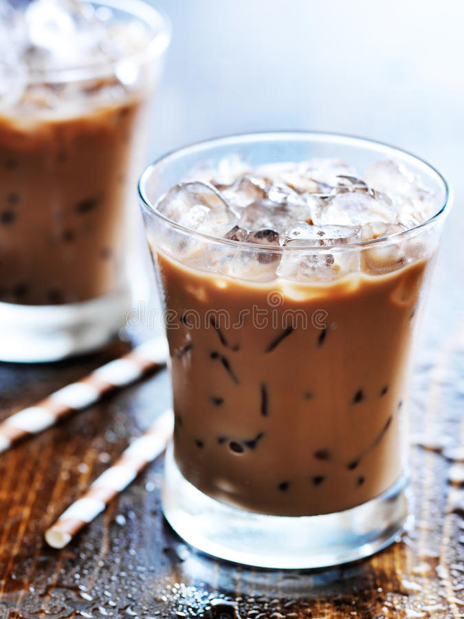 Café congelado foto de stock