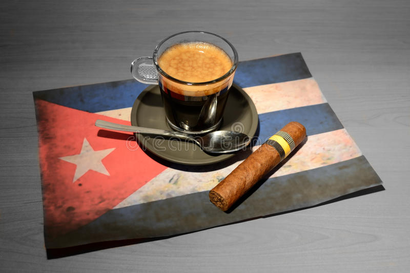 Café - Cuba fotografia de stock