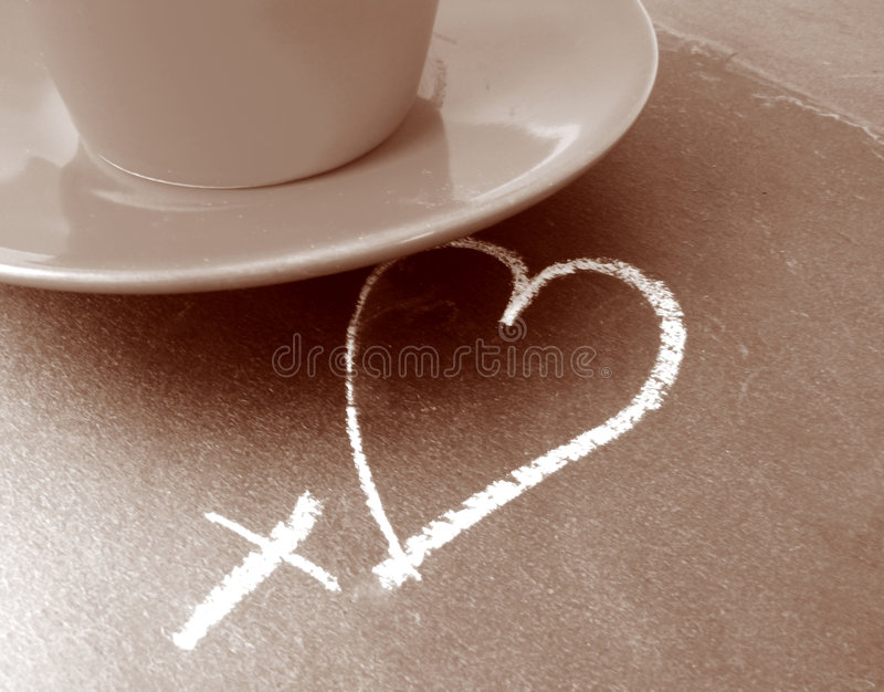 Café d'amour photo stock