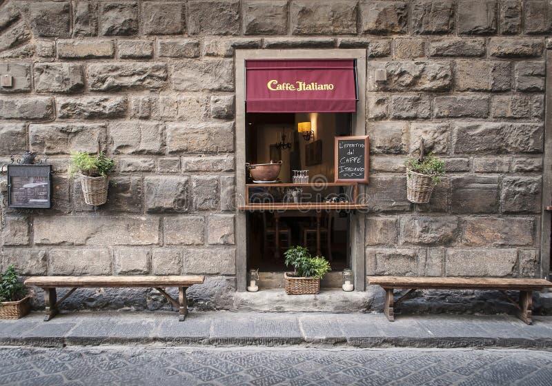 Café d'antiquité de Caffè Italiano en Florence Italy images libres de droits