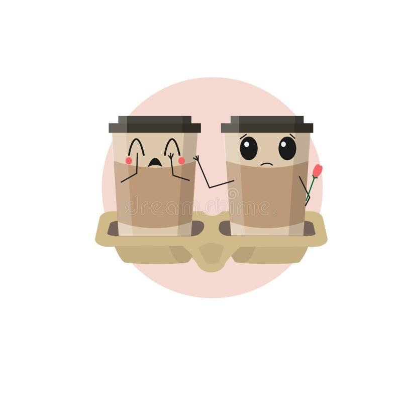 Café d'Emoji illustration libre de droits