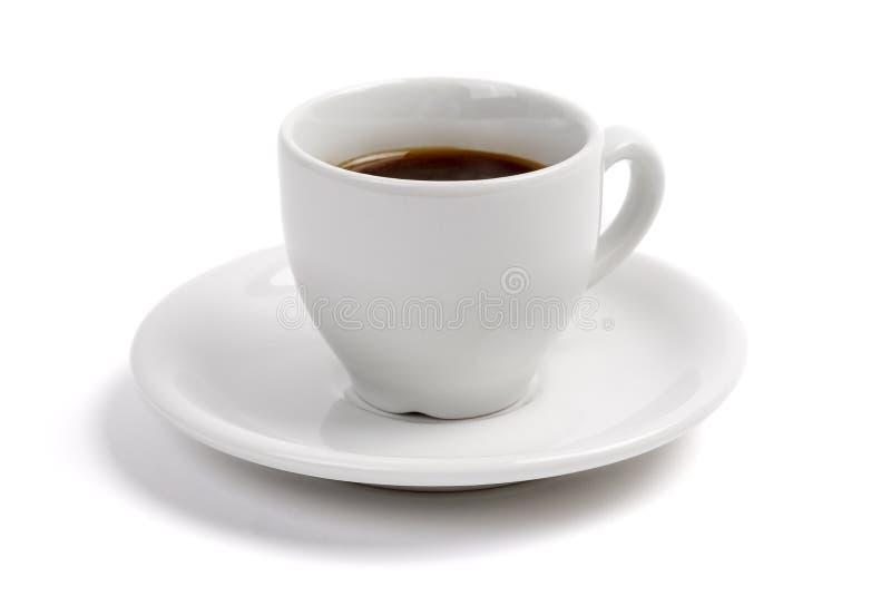 Café d'Expresso, tasse blanche photographie stock libre de droits