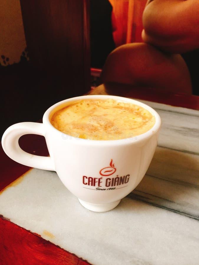 Café d'oeufs à Hanoï Vietnam photographie stock libre de droits