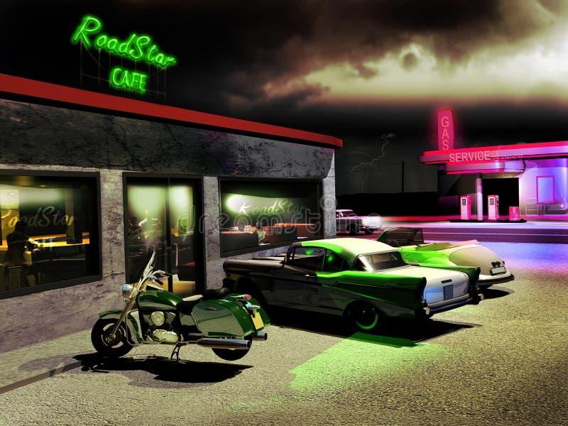 Café da estrada ilustração stock