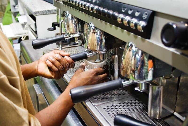 Café da fabricação de cerveja fotos de stock