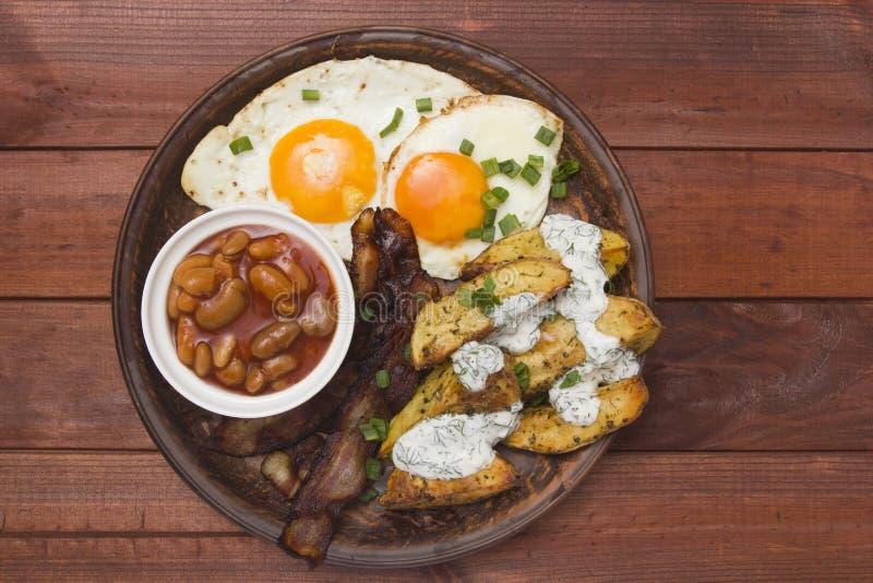 Café da manhã apertado batatas cozidas fotografia de stock