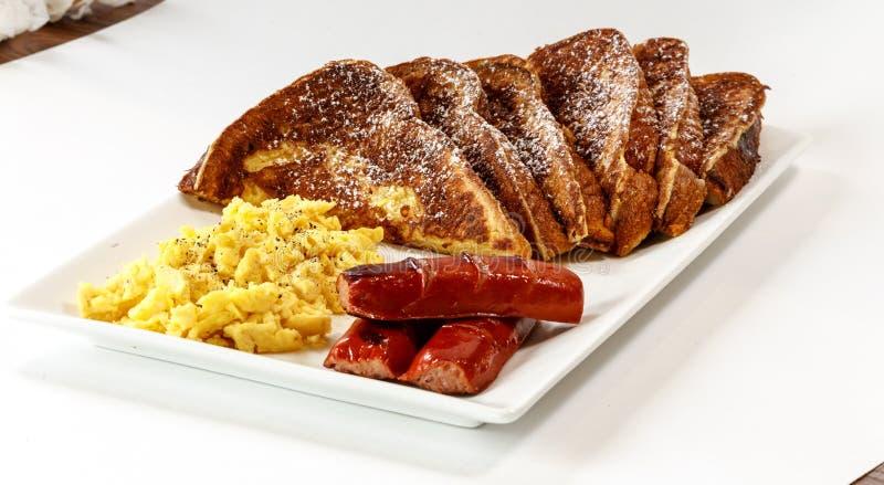 Café da manhã da rabanada foto de stock