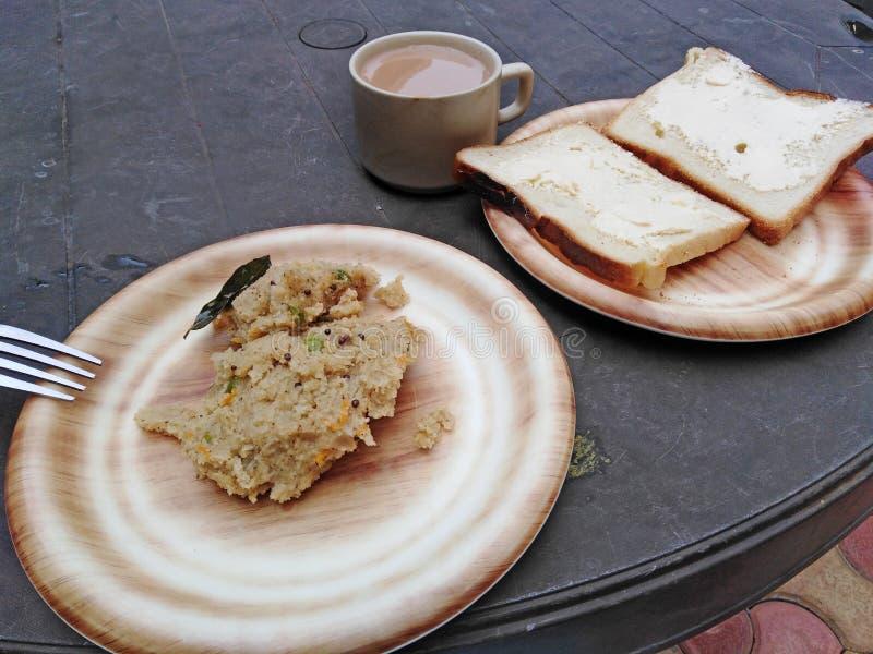 Café da manhã de Modest Indian fotografia de stock